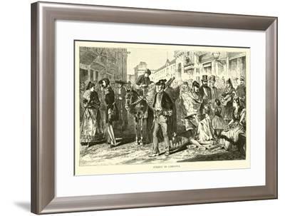 Street in Cordova--Framed Giclee Print