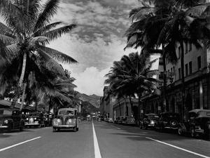 Street in Honolulu, Hawaii