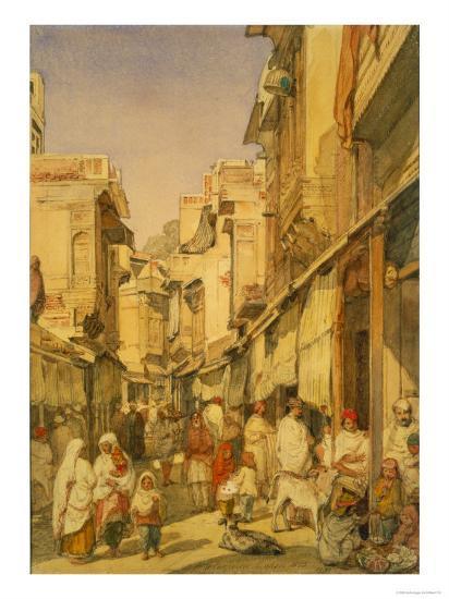 Street in Lahore, Punjab, India-William Carpenter-Giclee Print