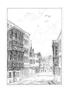 Street in St Gall, 1835