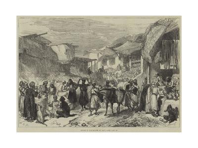 Street in the Bazaar at Cabul--Giclee Print