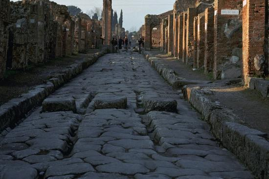 Street in the Roman town of Pompeii, 1st century-Unknown-Photographic Print