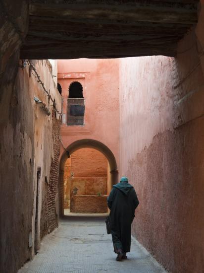 Street in the Souk, Medina, Marrakech (Marrakesh), Morocco, North Africa, Africa-Nico Tondini-Photographic Print