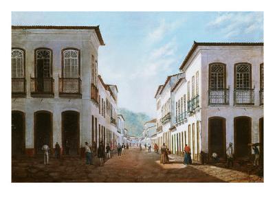 Street in Town of Desterro, Brazil-Victor Lima de Meirelles-Giclee Print