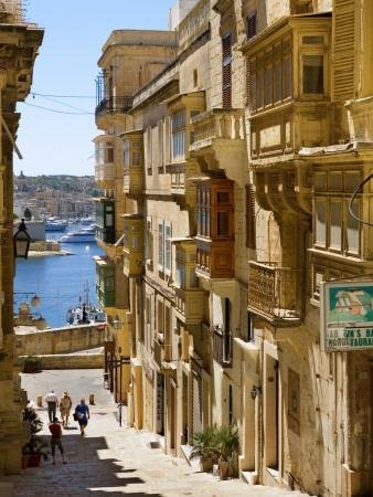Street in Valletta-Jean-pierre Lescourret-Photographic Print