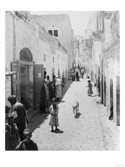 Street Leading to Church of the Nativity Photograph - Bethlehem, Palestine-Lantern Press-Art Print