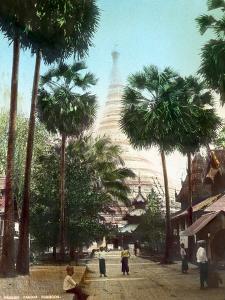 Street Leading Towards the Shwedagon Pagoda, Rangoon, Burma, Late 19th or Early 20th Century