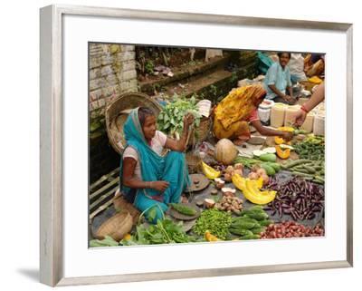 Street Market at Matiari, West Bengal, India--Framed Photographic Print