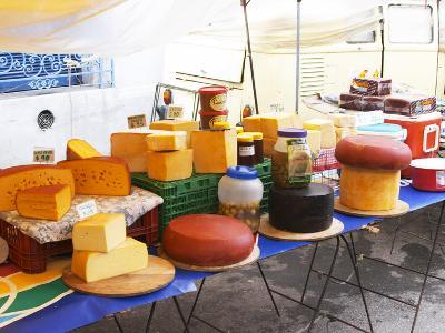 Street Market Stall Selling Cheese, Montevideo, Uruguay-Per Karlsson-Photographic Print