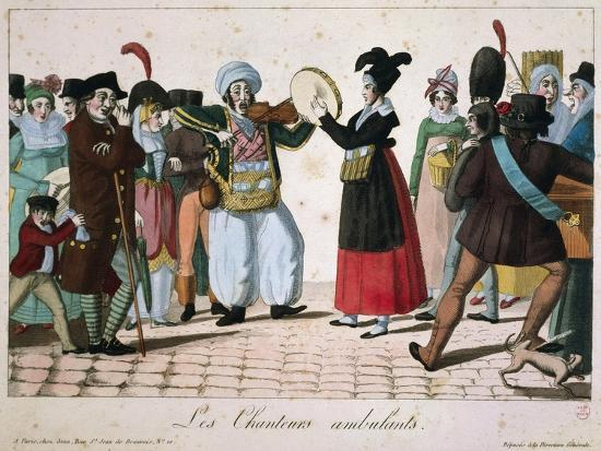 Street Musicians Performing in Streets of Paris, France--Giclee Print