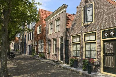 Street of Uniquely Individual Dutch Houses, Zuider Havendijk, Enkhuizen, North Holland, Netherlands-Peter Richardson-Photographic Print