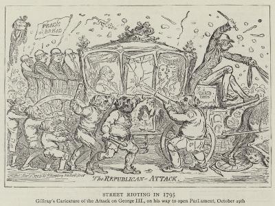 Street Rioting in 1795-James Gillray-Giclee Print