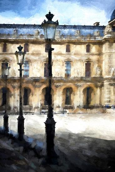 Street Royal Lamps Le Louvre-Philippe Hugonnard-Giclee Print