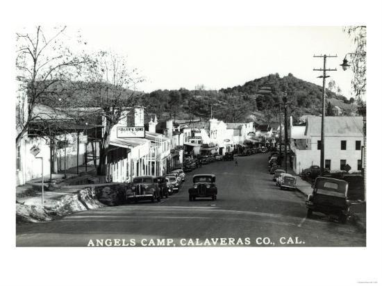 Street Scene - Angels Camp, CA-Lantern Press-Art Print