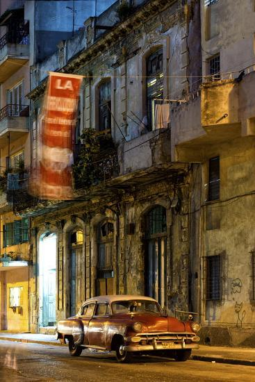 Street Scene at Night Lit by Artificial Lighting-Lee Frost-Photographic Print