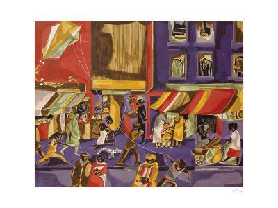 Street Scene (Boy with Kite), 1962-Jacob Lawrence-Art Print