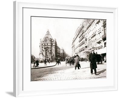 Street Scene, Brussels, 1898-James Batkin-Framed Photographic Print