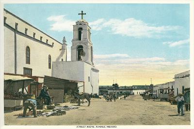 Street Scene, Early Juarez, Mexico--Art Print