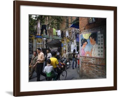Street Scene, Guangzhou, Guangdong Province, China-Andrew Mcconnell-Framed Photographic Print
