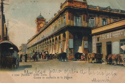 Street Scene, Havana, Cuba, C1910--Giclee Print