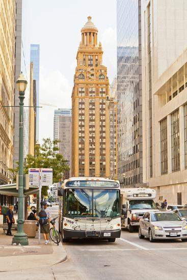Street Scene, Houston, Texas, United States of America, North America-Kav Dadfar-Photographic Print
