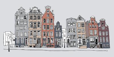 Street Scene I-Sandra Jacobs-Giclee Print