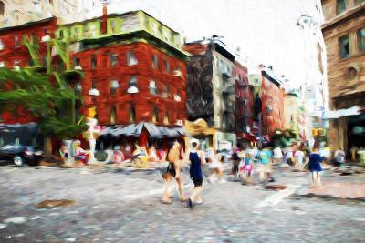 Street Scene III - In the Style of Oil Painting-Philippe Hugonnard-Giclee Print
