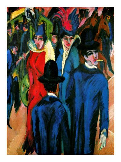 Street Scene in Berlin-Ernst Ludwig Kirchner-Giclee Print