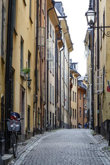 Street Scene in Gamla Stan, Stockholm, Sweden, Scandinavia, Europe-Yadid Levy-Photographic Print