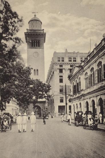 Street Scene in Lahore--Photographic Print