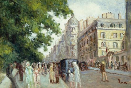 Street Scene in Paris; Scene De Rue a Paris, 1935-37-Maximilien Luce-Giclee Print