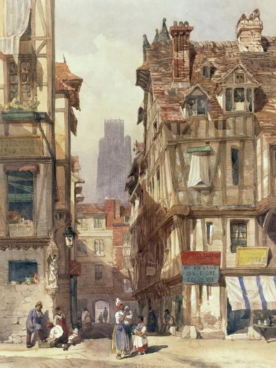 Street Scene in Rouen-Thomas Shotter Boys-Giclee Print