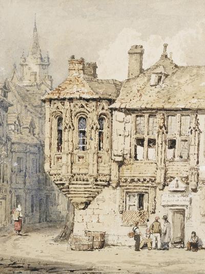 Street Scene in Rouen-Samuel Prout-Giclee Print