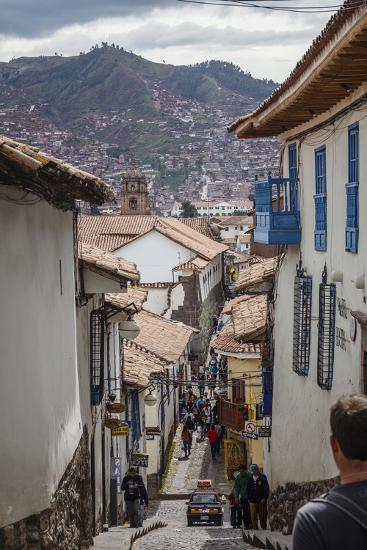 Street Scene in San Blas Neighbourhood, Cuzco, UNESCO World Heritage Site, Peru, South America-Yadid Levy-Photographic Print