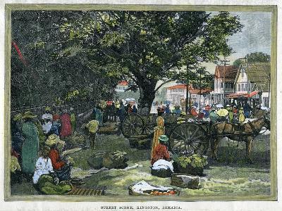 Street Scene, Kingston, Jamaica, C1880--Giclee Print