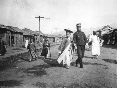 Street Scene, Korea, C1900--Giclee Print