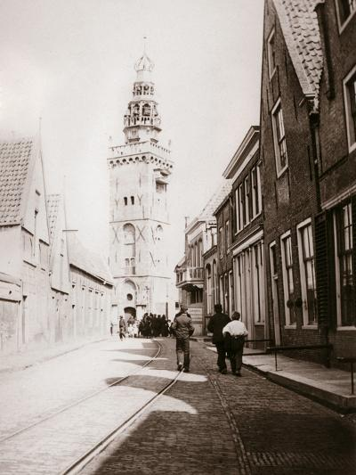 Street Scene, Monnickendam, Netherlands, 1898-James Batkin-Photographic Print