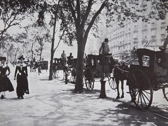 Street scene, New York City, USA, early 1900s-Unknown-Photographic Print