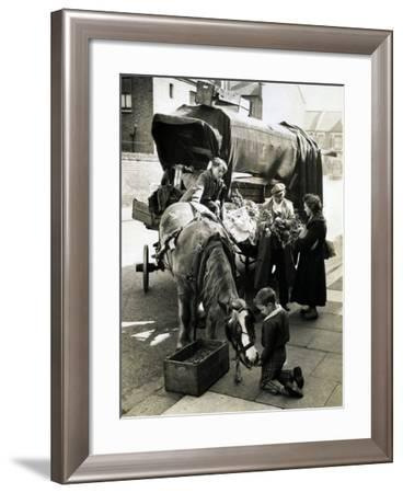 Street Scene, Possibly London--Framed Photographic Print