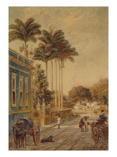 Street Scene, Rio de Janeiro, 1879-Bernhard Wiegandt-Giclee Print