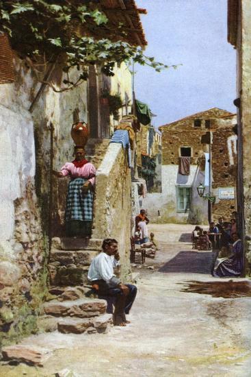 Street Scene, Taormina, Sicily, Italy, C1923--Giclee Print
