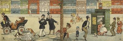 Street Scene with a Row of Closed Shops and a Closed Public Toilet--Giclee Print