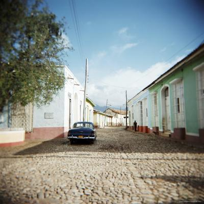Street Scene with Colourful Houses, Trinidad, Cuba, West Indies, Central America-Lee Frost-Photographic Print
