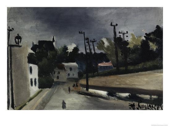 Street Scene-Henri Rousseau-Giclee Print