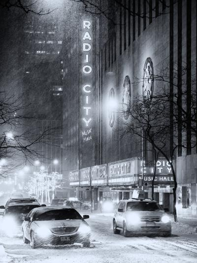Street Scenes by Night in Winter under the Snow-Philippe Hugonnard-Photographic Print