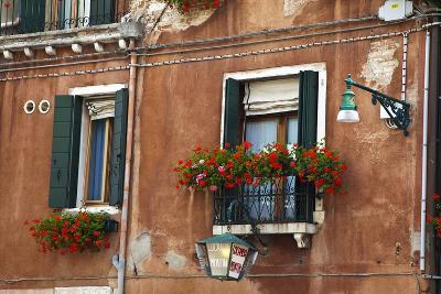 Street Scenes from Venice with Flower Boxes, Venice, Italy-Terry Eggers-Photographic Print