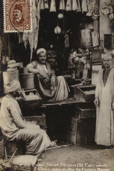 Street Shops in Old Cairo, Egypt--Photographic Print