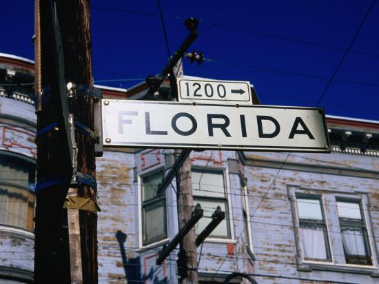Street Sign in the Mission, San Francisco, USA-Glenn Beanland-Photographic Print