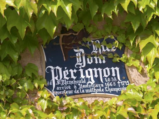 Street Sign Rue Dom Perignon, Inventor of Champagne Method, Vallee De La Marne, Ardennes, France-Per Karlsson-Photographic Print