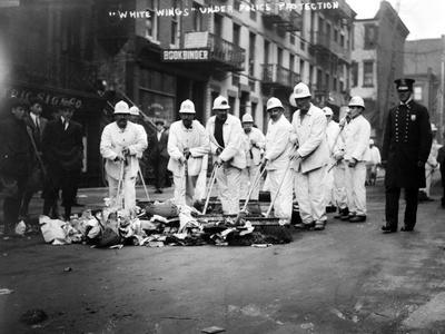 Street Sweepers, 1911--Photographic Print
